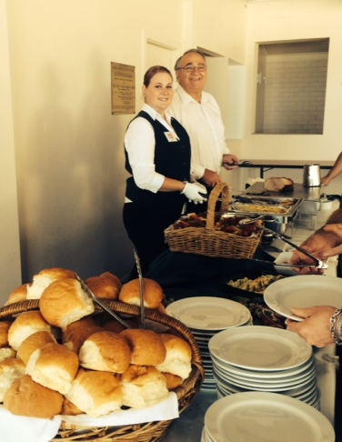 Grinners Catering Newcastle Buffet Serving Carvery Food