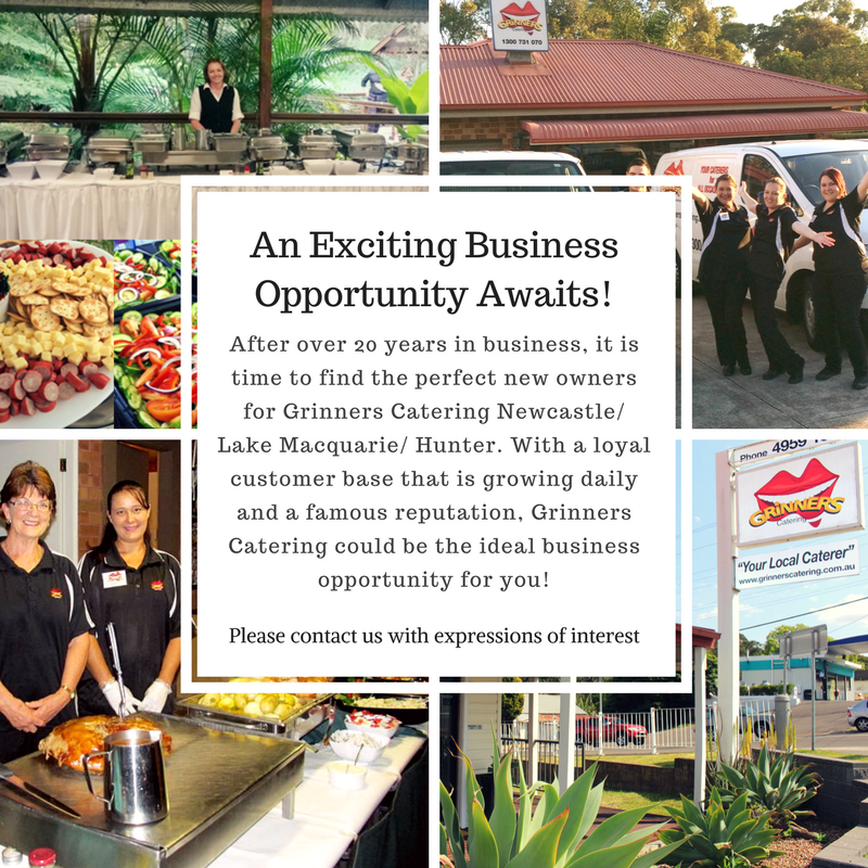 Grinners Catering For Sale Poster Business Sell Opprotunity