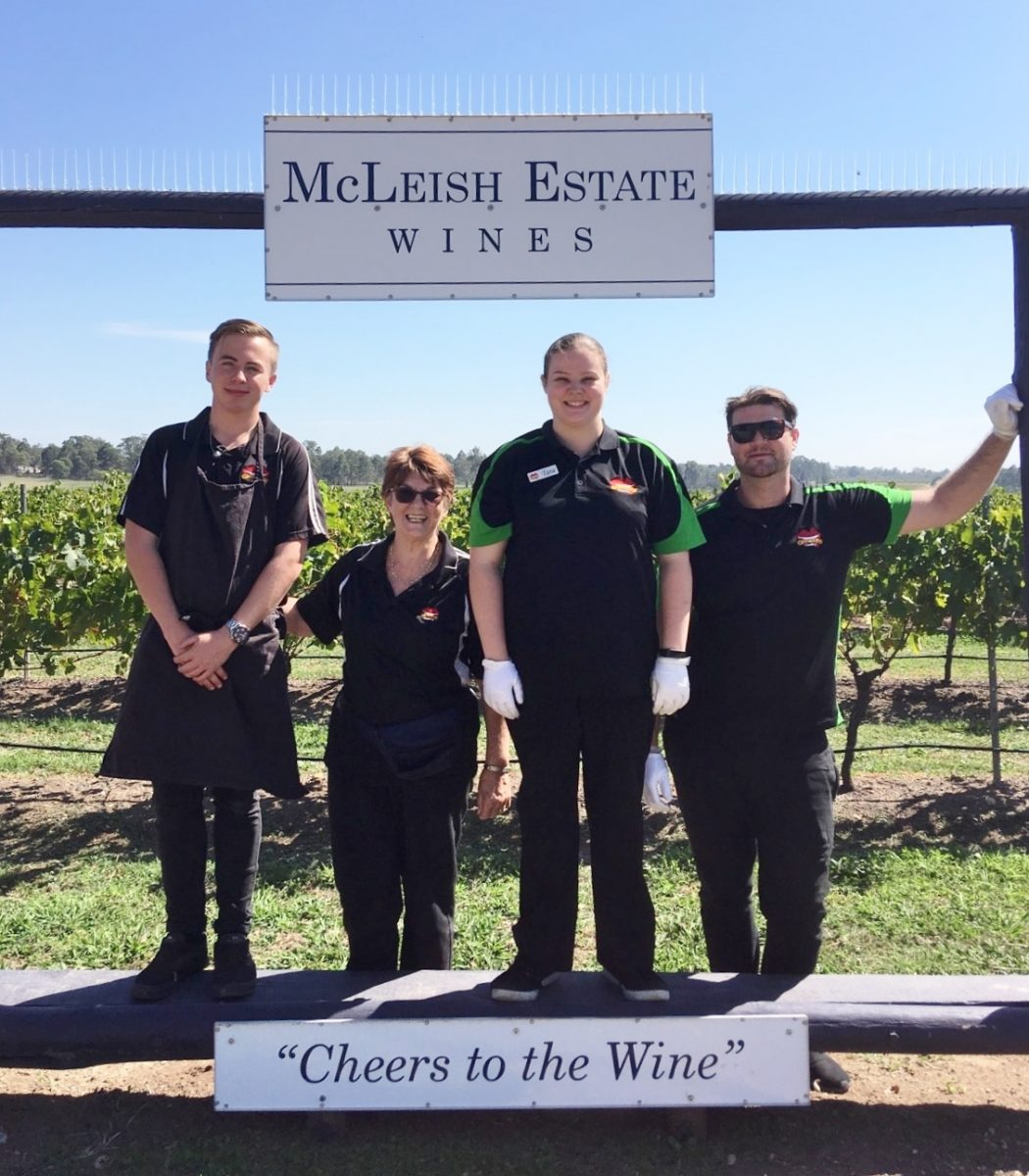 Grinners Catering Staff Winery BBQ Food